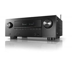 Denon AVR X2500H Récepteur de réseau avec HEOS, 7X150 W - Bluetooth, Wi-Fi, AirPlay, Ethernet - 4K Ultra HD - Surround, 3D