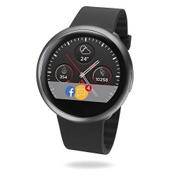 MyKronoz ZeRound2 Smartwatch avec écran couleur tactile, microphone et haut-parleur intégré