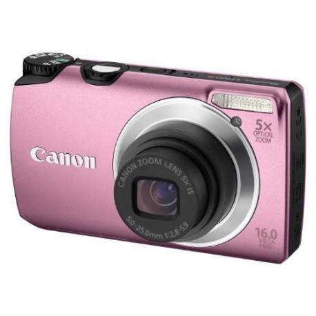 Canon A3300 IS Appareil Photo Numérique Compact 16 Mpix zoom 5 x Rose - Ecran LCD 3 Pouces CANON Appareil photo numérique