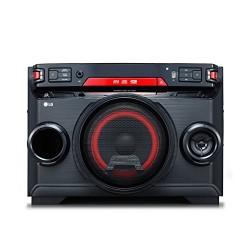 LG ok45High Power HiFi Système avec CD, Radio et USB Entrée Chromé/Noir/Rouge