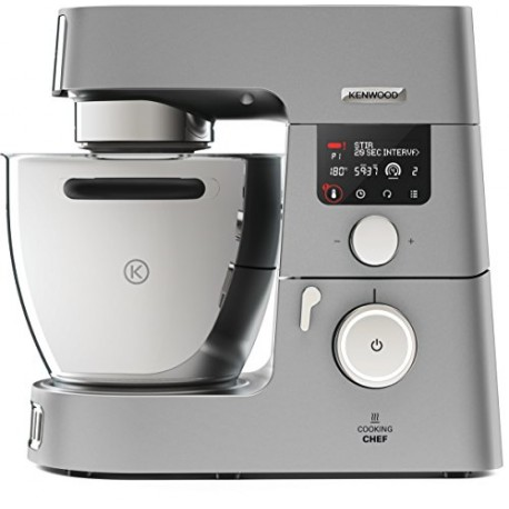 Kenwood KCC9040S Cooking Chef Gourmet Robot de Cuisine, 1500 W, Induction 20–180 °C, Capacité de 6,7 L, 1,6 L Thermoresist Mix E