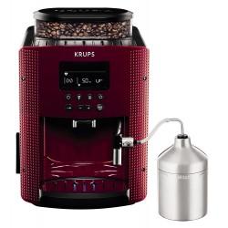 """Krups EA8165 Machine à café automatique avec buse vapeur """"Cappuccino"""" 15 bar Rouge pistil"""