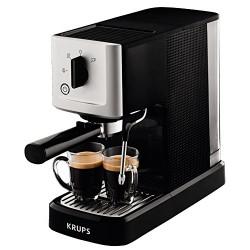 Krups Cafetières Krups XP344010 Machine à Café Calvi Pression 15 Bars Cafetière Expresso Thermoblock Buse Vapeur Espresso Cho...