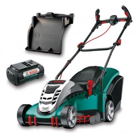 Bosch Tondeuse sans Fil Rotak 430 LI (2 Batteries, 36V, Bac de Ramassage 50 L, Chargeur - Largeur de Coupe : 43 Cm)