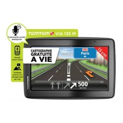 TomTom VIA 135 M - Europe Traffic - navigateur GPS - Cartographie Europe 45 à Vie - Kit mains libre Bluetooth