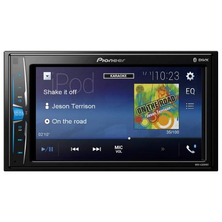 Pioneer Mvh A200VBT -  Récepteur multimédia à écran tactile - Fonction kit mains-libres Bluetooth