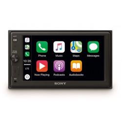 Sony XAV-AX1000 - Récepteur Multimédia 6,4 pouces avec Bluetooth et Apple CarPlay - 4 x 55 W - EXTRA BASS
