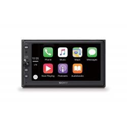 Sony XAV - AX100 - 16,3 cm (6,4'') - Bluetooth + Apple CarPlay et Android Auto, GPS - 4 x 55 W - Spotify - 2 DIN)