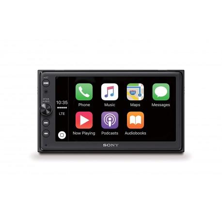 Sony XAV - AX100 - 16,3 cm (6,4'') - Bluetooth + Apple CarPlay et Android Auto, GPS, Spotif - 2 DIN)