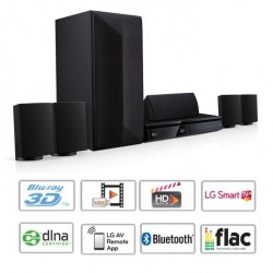 LG LHB625 Home Cinéma Blu-ray 3D 1000W Bluetooth - Smart TV - Multiroom Tx