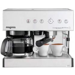 Magimix Cafetières Magimix 11423 Expresso et filtre automatique cafetière pour café moulu ou dosette, Chrome mat, 2010W 35192...
