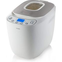 DOMO B3963 - Machine à pain automatique - 12 programmes - Ecran LCD - 550 W - Pains de 700 ou 1000 g - Blanc