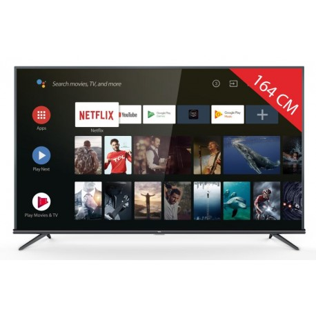 TCL 65EP663 - TV 164 cm - LED HD Ultra - HDR 4K - UHD (2160p) 3840 x 2160 - TV Connectée - SMART TV - Android TV