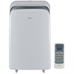 VIVAX ACP12PT35AEF Climatiseur mobile 12000 Btu - 3500 watts - Minuteur - Télécommande - Classe A - Débit : 370 m3/h VIVAX C...