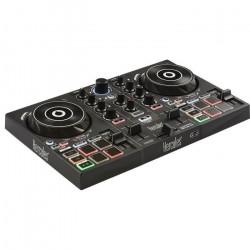 HERCULES Inpulse 200 - Contrôleur DJ USB - 2 pistes avec 8 pads et carte son