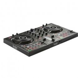 HERCULES InPulse 300 - Contrôleur DJ USB - 2 pistes avec 16 pads et carte son