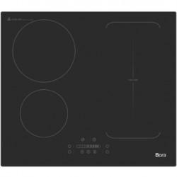 BORA BOTFI64S - Table de cuisson induction - 4 foyers - 3 600W - L59xP52cm - Revetement Noir