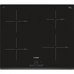 BOSCH PUE631BB1E table cuisson induction - 4 foyers - 4600W - L59,2 x P52,2cm - Revetement verre - Noir
