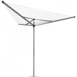 BRABANTIA - 310645 - Séchoir Essential - 30 metres – douille plastique – Ø 35 mm – 3 bras – Metallic Grey