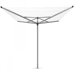 BRABANTIA - 310867 - Séchoir Topspinner, rotatif - 60 metres – ancre en métal – Ø 45 mm – 4 bras – Metallic Grey