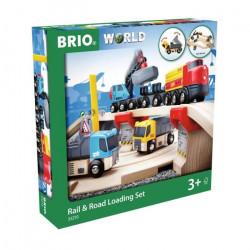 Brio World Circuit Rail Route Transport De Roches - Coffret 33 pieces - Circuit de train en bois - Ravensburger - Des 3 ans - 33