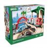 Brio World Circuit Plateforme Voyageurs - Coffret complet 42 pieces - Circuit de train en bois - Ravensburger - Des 3 ans - 3351