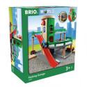 Brio World Garage Rail / Route - 3 niveaux - Accessoire pour circuit de train en bois - Ravensburger - Mixte des 3 ans - 33204