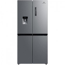 CONTINENTAL EDISON - Réfrigérateur multi portes - 492 L (329L + 163 L) - No frost - Classe F - L 83,3 x H 177,5 cm - Inox