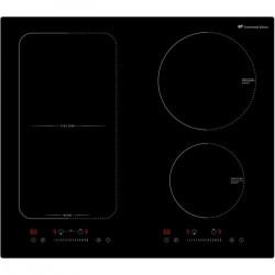 CONTINENTAL EDISON - Table de cuisson induction 4 zones dont une zone modulable - 7200W - 4 boosters - 4 minuteurs -NOIR