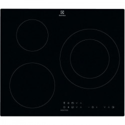 ELECTROLUX CIT60331CK Plaque de cuisson induction - 3 zones - 7350 W - L 59 x P 52 cm - Revetement verre - Noir