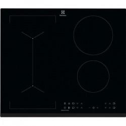 ELECTROLUX LIV6343 Plaque de cuisson - 4 foyers - 7350W - Revetement verre - Noir