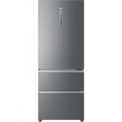HAIER HTOPMNE7193 - Réfrigérateur combiné 3 portes 450L (310+140L) - Froid ventilé - L70xH190,6cm - Silver