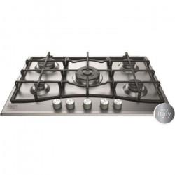 HOTPOINT PNN 751 IX Plaque de cuisson gaz - 5 foyers - 10,5kW - L75 x P51cm - Revetement inox - Inox