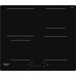 HOTPOINT - HQ5660SNE - Table de cuisson induction - 4 foyers - 7200W - L60 cm - Revetement verre noir