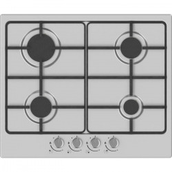 HUDSON HTG 640 I Plaque de cuisson gaz - 4 foyers - L 60 cm - Revetement email - Inox