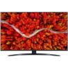 LG 43UP81006LA - TV 4K Active HDR - TV Full HD - TV HDR - TV UHD - LG Channels - Netflix - Processeur Quad Core - Contrôle Vocal